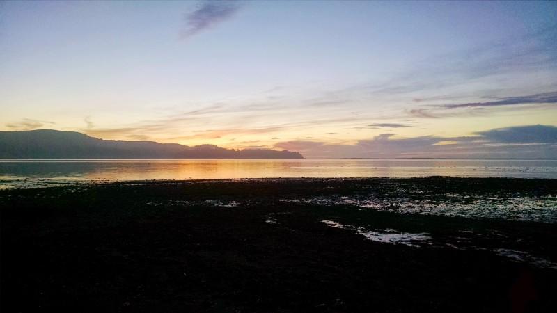 Sunset by Tillamook Bay