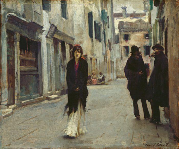 John Singer Sargent, Street in Venice, 1882